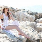 KAFTANS - Sortie de plage 3 Stripes transparente  - Blanc