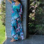 KAFTANS - cover-up Tamara -  Turquoise