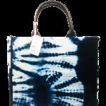 L.E CREATIONS - Tote Bag Bogolan - Bleu