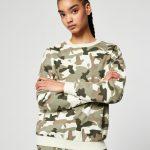 JENNYFER - Sweat basic camouflage - Kaki